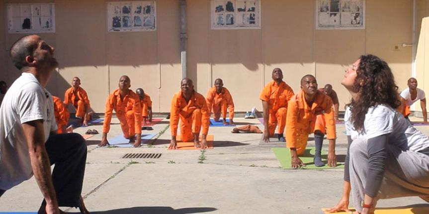 YOGA helping prisoners in Pollsmoor prison, South Africa