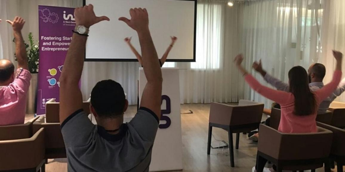 On the ocassion of the UAE National Sports Day, Yoginfinity provided a corporate yoga session at IN5 Innovation Centre, Dubai